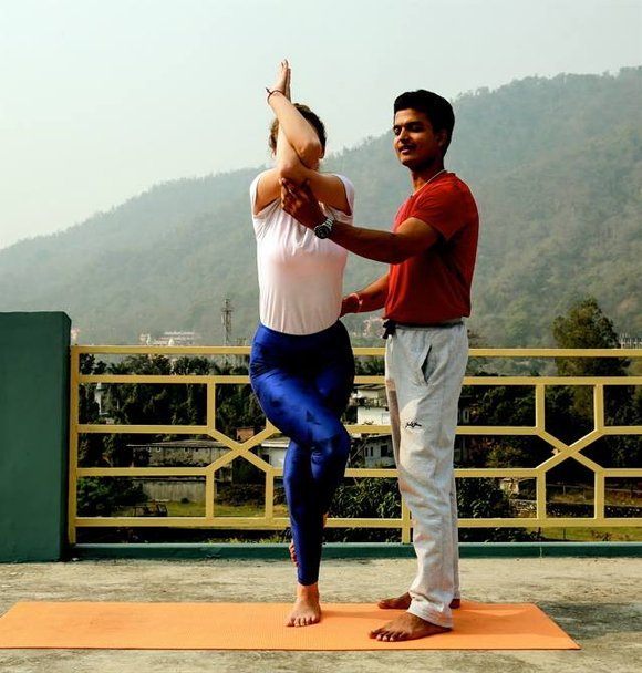 Eagle pose, yoga
