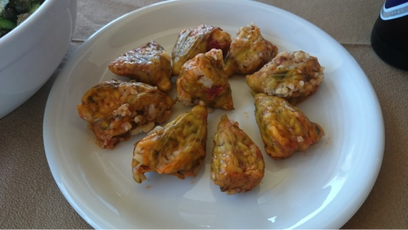 Greek stuffed Zucchini Blossoms