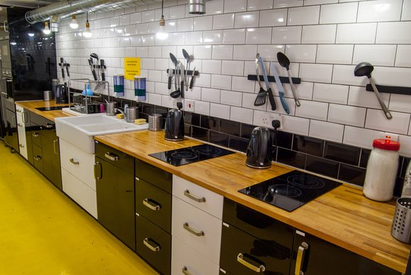 The Dictionary Hostel Kitchen