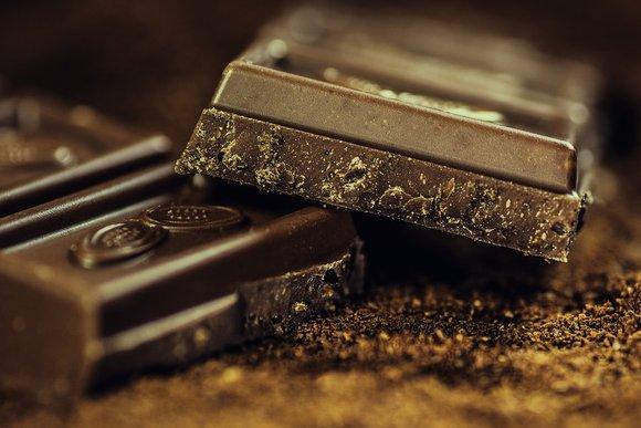 blocks of dark chocolate