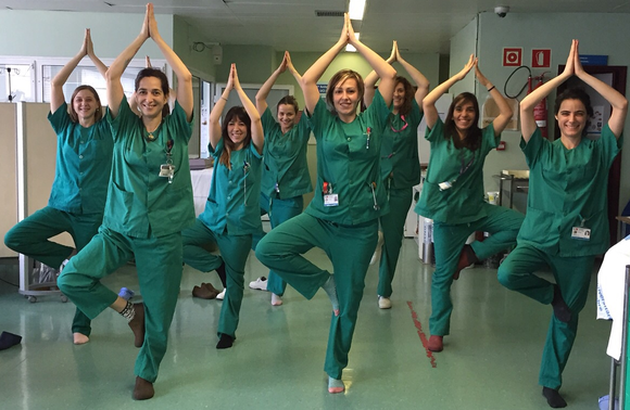 doctors doing yoga