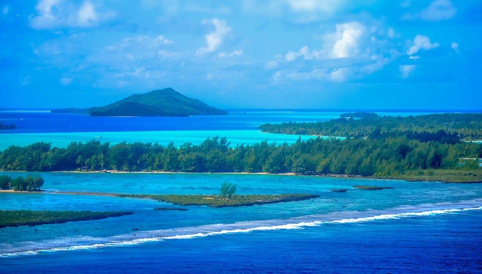 The vast ocean of Bora Bora