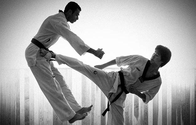 Taekwondo kicks can come in handy during street altercations