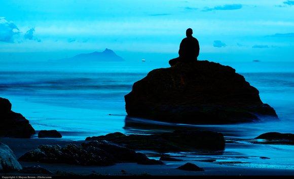 meditation blue