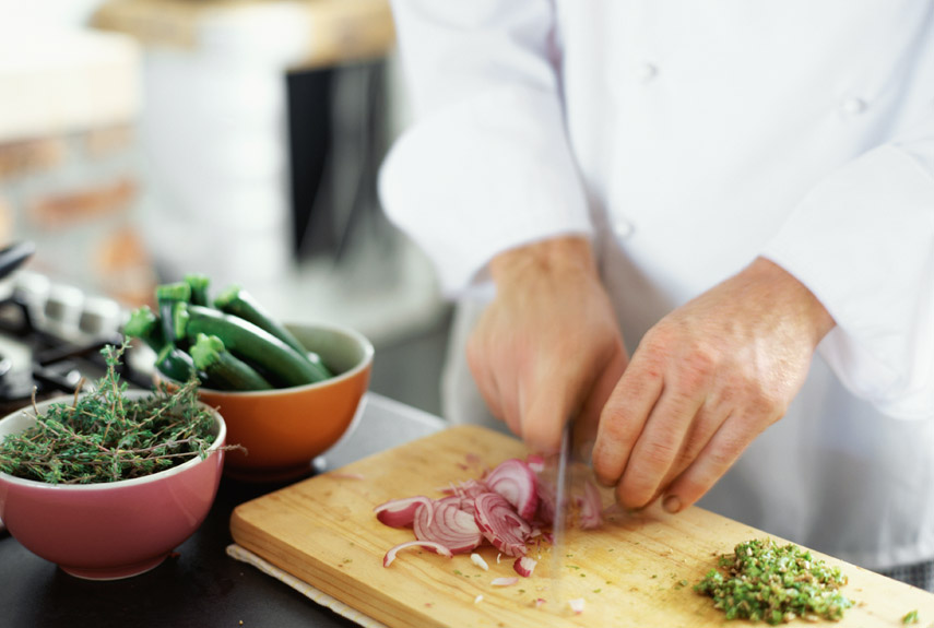 a professional chef's chopping skill