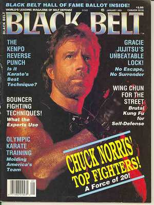 Chuck Norris on cover of Black Belt Magazine