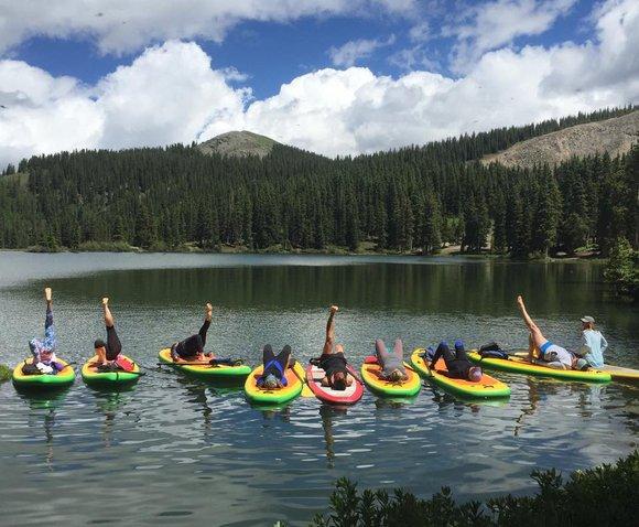 standup paddleboard yoga
