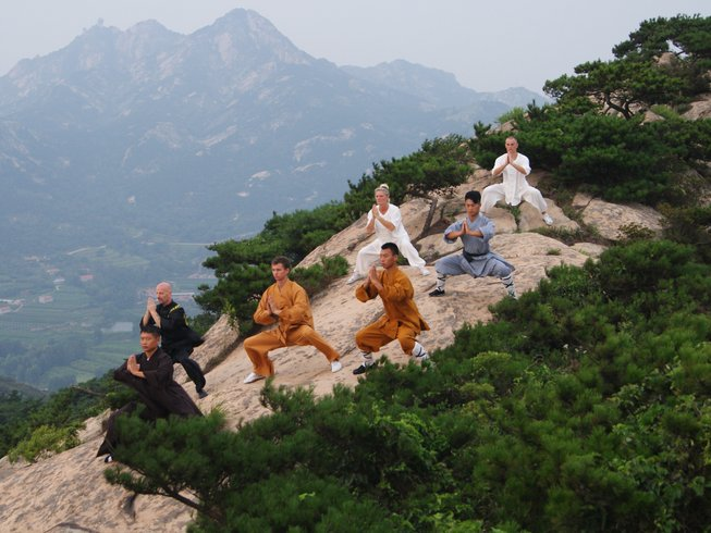 Kung Fu training in the Chinese mountains