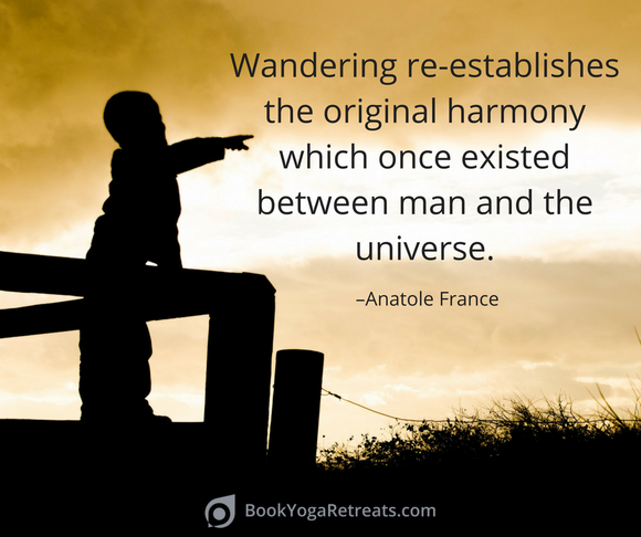 Wandering re-establishes the original harmony