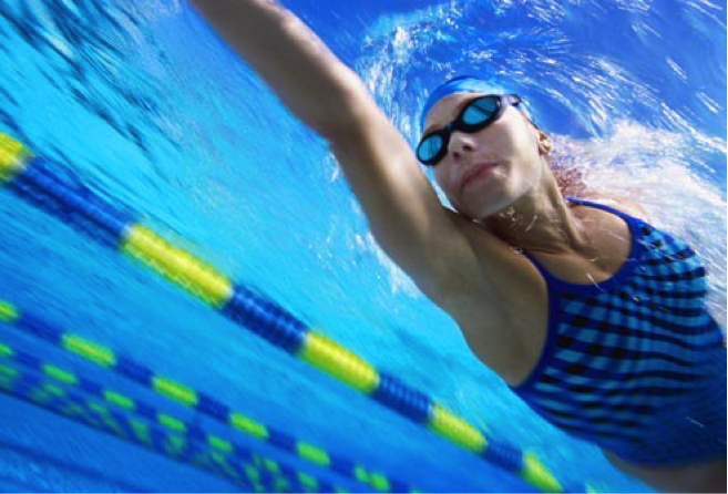 Swimming provides a great cardiovascular workout