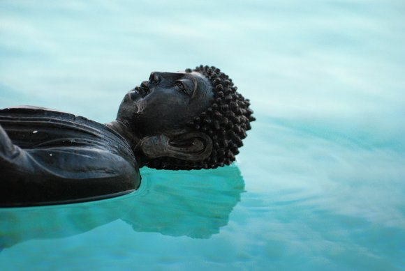 buddha in water yoga