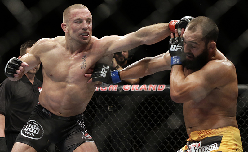George St. Pierre in action
