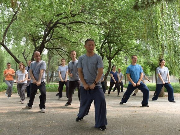 Martial arts trainees in China