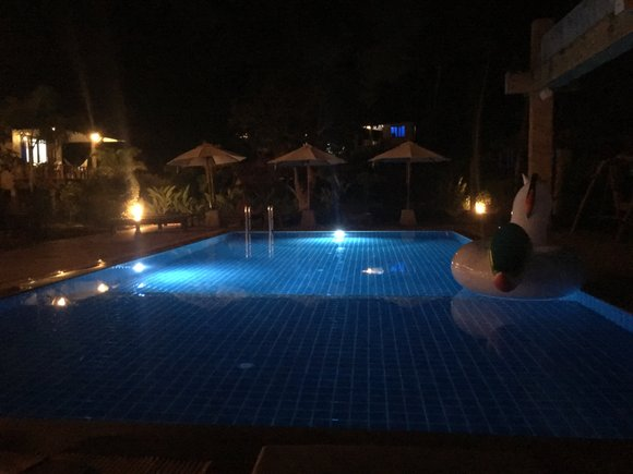 Pool at Wonderland Healing Center, Koh Phangan