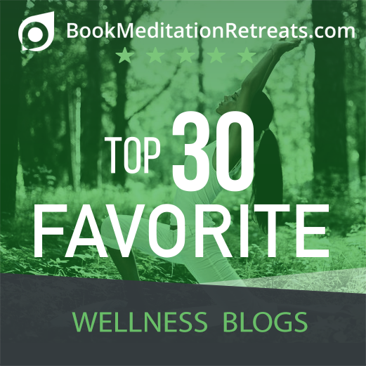 BookMeditationRetreats.com's Top Wellness Blog Badge