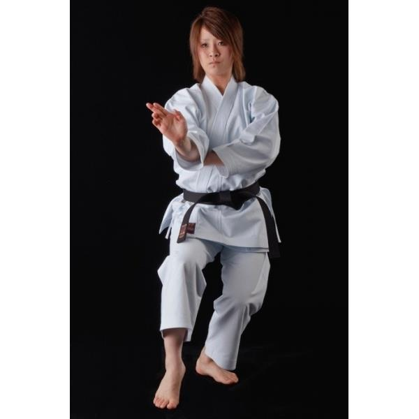 Woman in a Karate stance