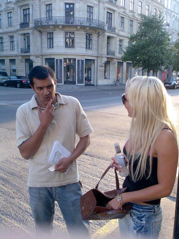 asking in the street
