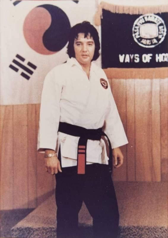 Elvis Prestley is a black belt in Karate