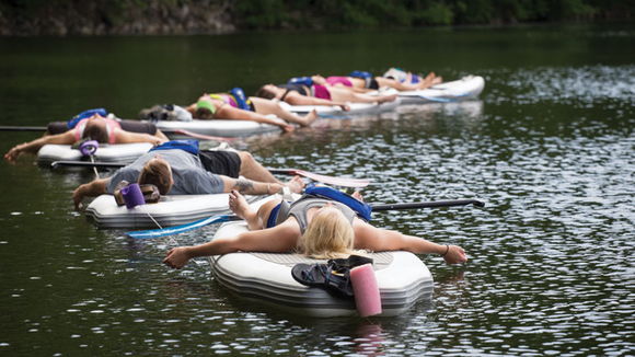 savasana sup yoga