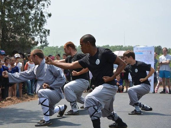 Foreign Kung Fu trainees in China