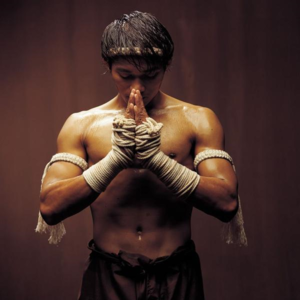 Tony Jaa in Muay Thai stance