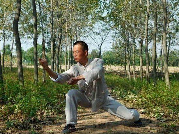 A Kung Fu practitioner in China