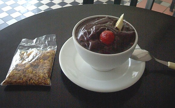 acai and chocolate