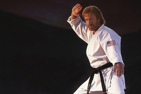 Chuck Norris is martial arts black belt