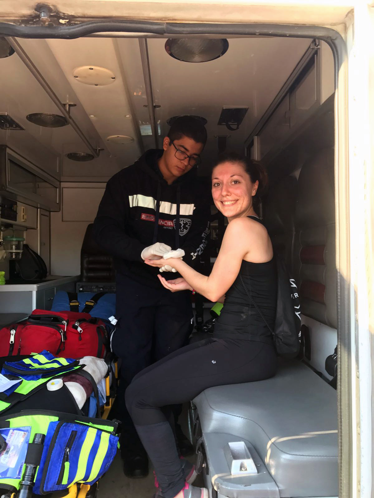 girl in an ambulance