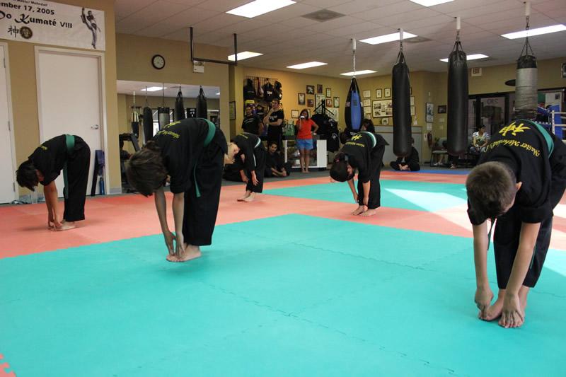Taekwondo practioners