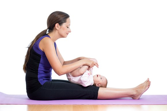 baby yoga support