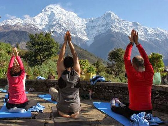 yoga mountains